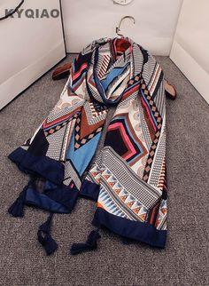 7.94 25% de réduction Aliexpress.com  Acheter KYQIAO Designer hijab écharpe  2019 femmes automne printemps Mexique style ethnique vintage long  géométrique ... 74db5a04b1f