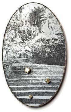 BETTINA SPECKNER -  Cinderella  Brooch, 2010 Photoetching in Zinc, Silver, Diamonds 8 X 5 cm
