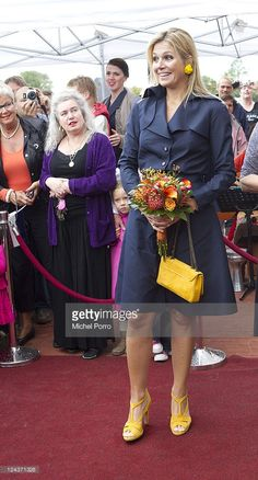 Princess Maxima of The Netherlands opens domestic violence 'Oranje Huis' women's shelter on August 30, 2011 in Alkmaar, Netherlands.