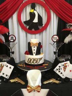 James Bond Theme Birthday Party Cake 3