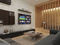 white-brick-accent-wall