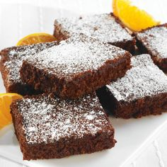 Chocolate Quinoa Brownies: These flourless brownies are a snap to prepare-- just throw all the ingredients in the food processor. We cooked the quinoa in more water than usual to obtain a smoother texture. Healthy Desserts, Just Desserts, Dessert Recipes, Healthy Meals, Healthy Eating, Healthy Recipes, Flourless Chocolate, Flourless Brownie, Melted Chocolate