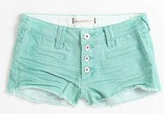 Bullhead Exposed Button Color Shorts - PacSun
