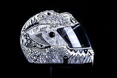 Doodle/Sharpie Helmet test on Behance