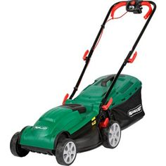 Qualcast 1400W Electric Rotary Lawn Mower-rotary-lawn-mower---34cm-£69.99 with roller and 6 cutting heigths