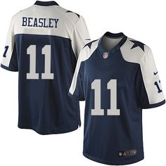 Men's Nike Dallas Cowboys #11 Cole Beasley Limited Navy Blue Throwback Alternate NFL Jersey Sale