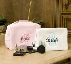 Monogram+Cosmetic+Bag+Personalized+Bride+Gift+or+by+shopmemento,+$18.00