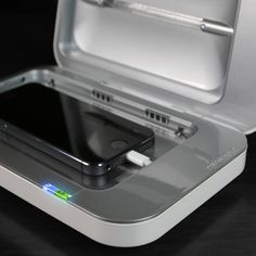PhoneSoap Charger is proud to be the first and only cell phone charger that sanitizes your phone while it charges.