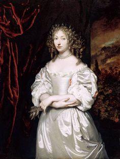 Caspar Netscher (1639-1684) Portrait de Suzanna Doublet-Huygens, cinquième et dernier enfant de Constantijn Huygens vers 1667-69.