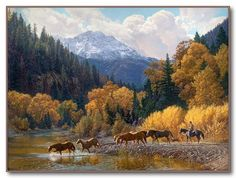 "Tim Cox - Western Art ""Rocky Mountain Paradise"""