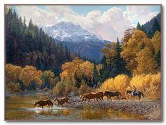 "Tim Cox - Western Art ""Rocky Mountain Paradise"""