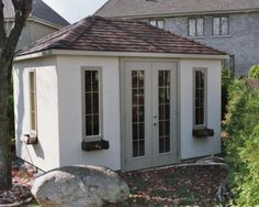 cabanon 206-4 Garage Doors, Shed, Outdoor Structures, Windows, Outdoor Decor, Plants, Home Decor, Gardens, Lean To Shed