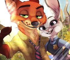 I may or may not have seen this movie 4 times. And I may or may not be obsessed a little. Some fanart! Nick And Judy, Zootopia, Predator, Fanart, Bunny, Journey, Deviantart, Selfie, Times