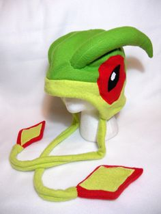 Pokemon Inspired Flygon Fleece Hat MADE TO ORDER by Higginstuff