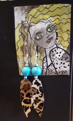 Handmade Jewellery, Fleas, Display Ideas, Turquoise Necklace, Princess Zelda, Pearls, Earrings, Leather, Fictional Characters