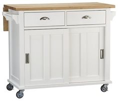 Belmont White Kitchen Island   Traditional   Kitchen Islands And Kitchen  Carts   Crate