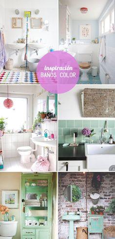 inspiración cuartos baño color