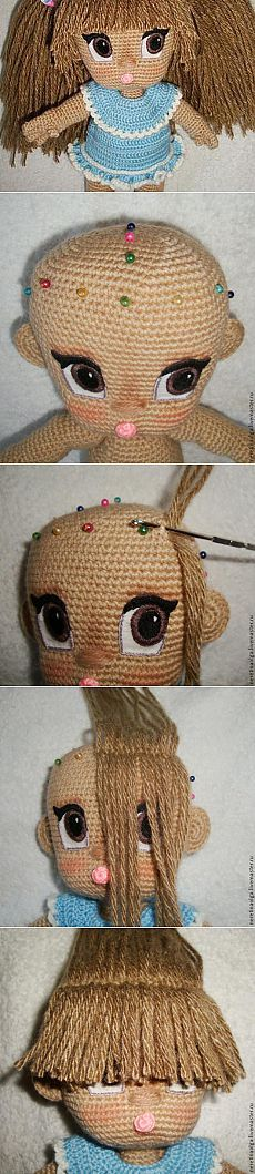 Lush hairstyle for dolls.  Master Class - Fair Masters - handmade, handmade
