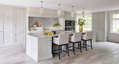 Hertfordshire Property Luxury Kitchen Design, Kitchen Room Design, Home Decor Kitchen, Kitchen Furniture, New Kitchen, Custom Kitchens, Home Kitchens, Martin Moore Kitchens, Kitchen Diner Extension