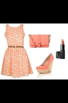 Coral outfit