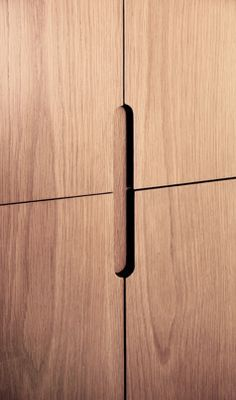 cabinet flush finger pull recessed veneer - Google Search