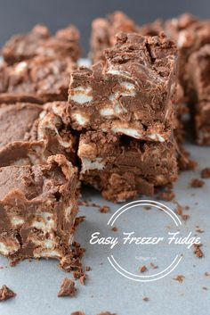 Easy Freezer Fudge |