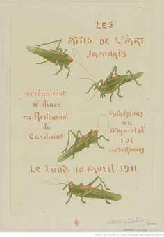 Les Amis de l'Art Japonais se réuniront à dîner au Restaurant du Cardinal Le Lundi 10 Avril 1911 : [carton d'invitation, estampe] / Ch. Houdard