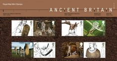 Fascinating finds and intriguing landmarks tell the colourful prehistory of our country in the newly released Ancient Britain stamps Iron Age, Stamp Collecting, Royal Mail, Post Office, Prehistoric, Britain, Presentation, Bronze, Explore