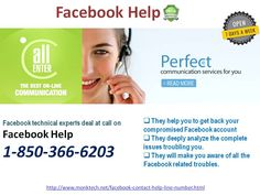 Who is #FacebookHelp @1-850-366-6203 team?http://www.monktech.net/facebook-contact-help-line-number.html