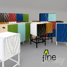 The family of drawers and cabinets BIO Fineobjects