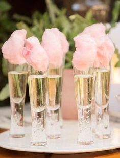 Wedding Reception Food Cotton Candy Champagne // wedding, food inspiration, signature cocktail, dessert, candy bar - We've rounded up our all-time favorite cotton candy ideas for sweets and sips that are guaranteed to give you a sugar rush! Signature Cocktail, Cocktail Food, Party Drinks, Cocktails, Wine Parties, Cotton Candy Champagne, Champagne Party, Cotton Candy Wedding, Candy Bar Wedding
