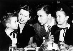 The Sinatra family at the Stork Club, 1947