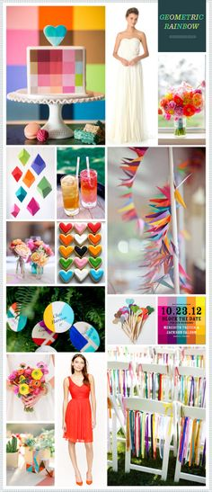 REVEL: Geometric Rainbow Wedding Inspiration