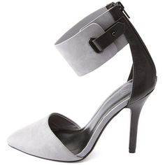 Charlotte Russe Ankle Cuff Pointed Toe D'Orsay Pumps
