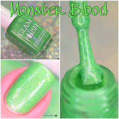"""Monster Blood"" from the IT'S GONNA BE A SCREAM! Collection swatched by @polishandpaws"