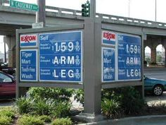 Funny Gas Station Signs | High gas pricies - Funny gas station sign that reads gas $1.59, and ...