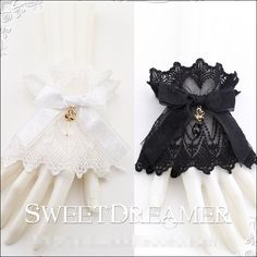 Sweet Dreamer Sweet Lace Lolita Wristcuffs- IN STOCK