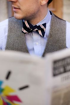 I'm not certain this IS my style, but I'm seeing more and more guys rocking the bow tie on the subway and the street, and that's usually the leading edge of something. Thoughts?