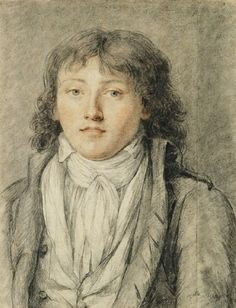 Portrait of Antoine Saint-Just, by Constance Meyer