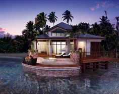 Aruban bungalow. That's it. Small simple bungalow. On water of course.