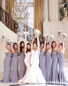 Wedding bridesmaids photo ideas #weddings #bridesmaid #weddingphotos #weddingideas #dresses