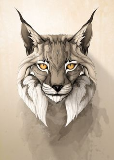 """Lynx"" metal poster by Rafapasta CG #animal"