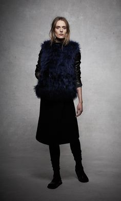 ashley B Convertible Fur & Leather Jacket