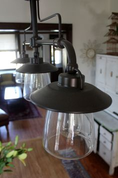 i liked these lights when i was in lowes the other day - Farmhouse Light Fixtures