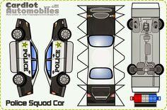Imprimible coche policía