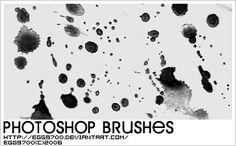 Ink Splatter - Download  Photoshop brush http://www.123freebrushes.com/ink-splatter-25/ , Published in #GrungeSplatter. More Free Grunge & Splatter Brushes, http://www.123freebrushes.com/free-brushes/grunge-splatter/ | #123freebrushes