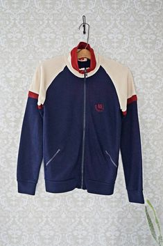 bcc2d5bf Vintage 1970s Colorblock + Zip Track Jacket - closiTherapi 1970s, Menswear,  Track, Zip