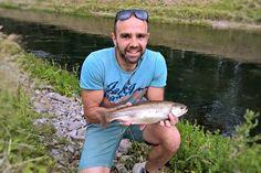 Muharjenje ali ultra light ribolov / fishing postrvi na kanalu HE Dubrava, Prelog? Kaj je bolje? Kaj izbrati? Muharjenje je zmagalo - preverite zakaj!