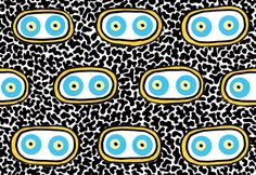 Nathalie Du Pasquier, Tissu Aluca pour Olivades, 2015 Tile Patterns, Shape Patterns, Baby Patterns, Textures Patterns, Print Patterns, Art Design, Textile Design, Nathalie Du Pasquier, Motifs Textiles
