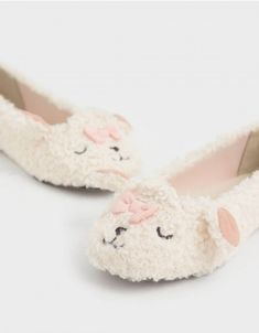 Beige Girls' Nellie The Lamb Furry Ballerina Flats Exclusive Shoes, Charles Keith, Open Toe Sandals, Ballerina Flats, Star Fashion, Shoes Online, Girls Shoes, Sheep, Lamb